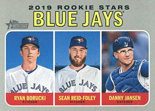 2019 Topps Heritage #376 Ryan Borucki/Danny Jansen/Sean Reid-Foley Toronto Blue Jays Rookie Baseball Card