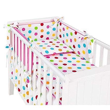 Sevira Kids - 3 Piezas ropa de cama bebé con contorno de cama y juego 135x100