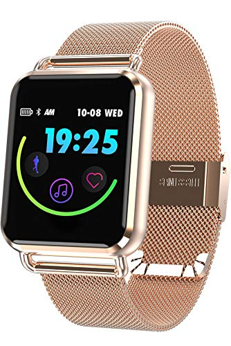 (Smart Watch Color Touch Screen Pedometer Heart Rate Monitor Blood Pressure Activity Tracker Sleep Monitor Camera Bluetooth Sport Fitness)