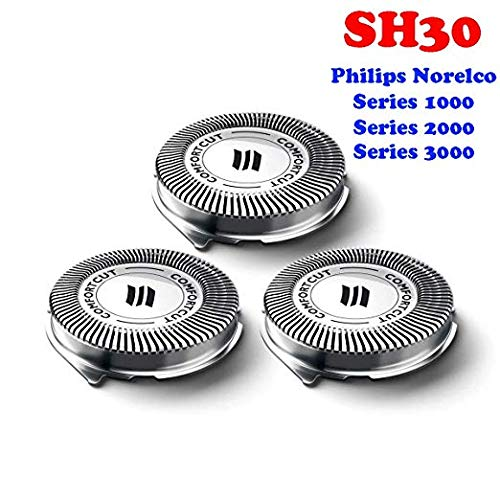 Shaving-Planet SH30/52 Compatible Premium Precision Blade Replacement Heads 3-Pack Shaving-Planet TM Cooling Surface Technology for Philips Norelco Compatible 1000/3000 Series Electric Shavers Models