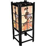 "Oriental Furniture 18"" Geisha Shoji Lamp - Black"