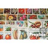 Motives 50 différents Fleurs et Plantes marches (Timbres pour les collectionneurs)