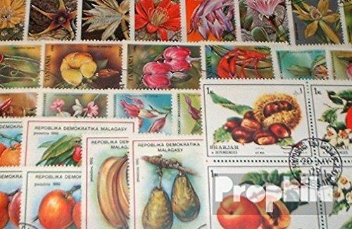 Prophila Motive 50 verschiedene Blumen und Pflanzen Marken (Briefmarken für Sammler)