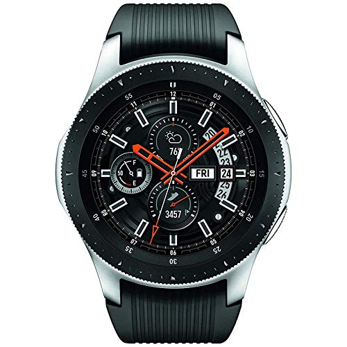 Samsung Galaxy Watch (46mm) Silver (Bluetooth), SM-R800NZSCXAR - Bundle (Certified Refurbished)