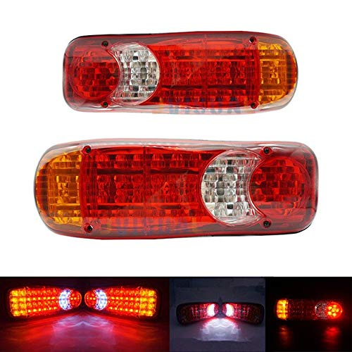 BEESCLOVER 12V Truck LED Tail Light Warning Rear Lamp Trailer Stop Reverse Safety Indicator Lights for Trailer Truck Car taillights Show One Size by BEESCLOVER