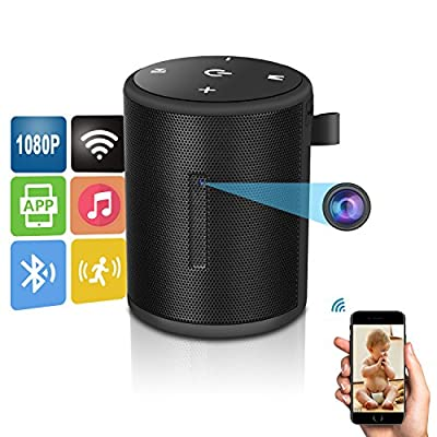 1080P HD WiFi Spy Camera - ENKLOV Portable Small Mini Hidden Cam with Motion Detection, P2P Wireless Digita Video Camcorder for IOS iPhone Android Phone APP Remote View Support 128GB Card