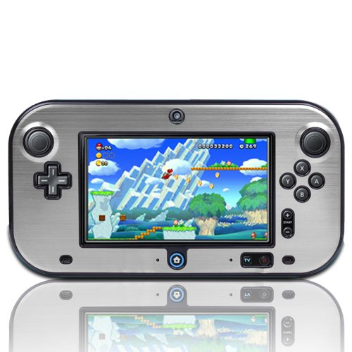Aluminum Hard Carry Case (TNP Wii U Gamepad Case (Silver) - Plastic + Aluminium Full Body Protective Snap-on Hard Shell Skin Case Cover for Nintendo Wii U Gamepad Remote Controller)