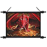 Dragons Lair Canvas Wall Scroll Tapestry