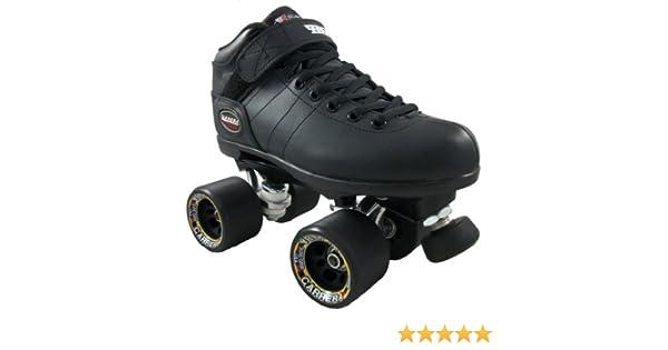 de29f9ed445 Amazon.com   Riedell Carrera Skates - Riedell Carrera Black Skates   Speed  Roller Skates   Sports   Outdoors