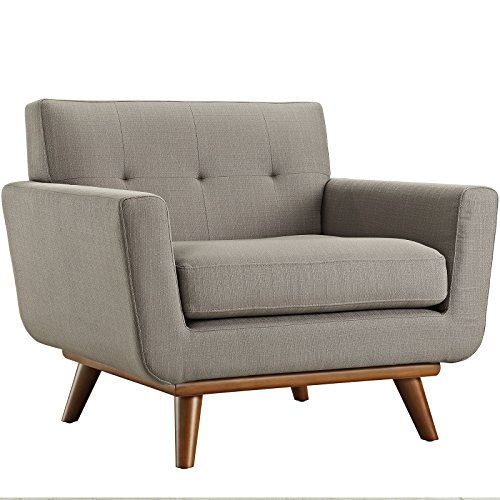 Modway Engage Upholstered Armchair, Granite