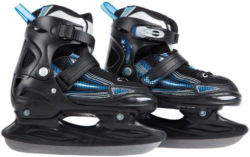 Ultrasport Kinder Schlittschuh Kids-Skater, schwarz hellblau blau, 32-35, 331300000126