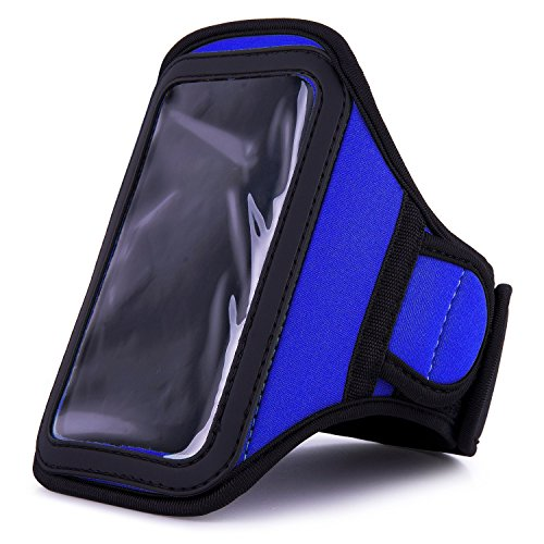 VanGoddy Athlete's Choice Workout Armband for Apple iPhone 6 / 6s / 5c / 5s / 5, Blue (Iphone 4s Virgin Mobile 16gb)