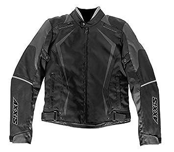 AXXIS CHAQUETA MOTO TOURING PARA HOMBRE AX-JR3 (L, NEGRO ...