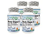 Natural Weight Loss Supplement - Life Vitality Body Shape 4: Green Coffee, Raspberry Ketone, Green Tea, Garcinia Cambogia Complex, 60 Capsules, Non-GMO (4)