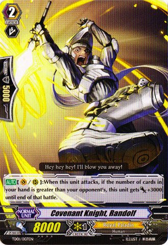 Cardfight!! Vanguard TCG - Covenant Knight, Randolf (TD01/007EN) - Trial Deck 1: Blaster Blade