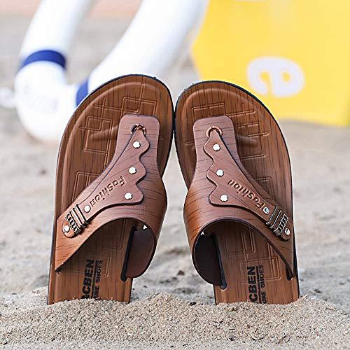 Zapatos Verano De Zapatillas Hombres Marrón Flip Calzado Casuales Playa ALIKEEYHombre Sandalias Flops Pizca qI4xBAnwd