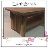 Deluxe Personal Altar with Shelf - EarthBench - Solid BUTTERNUT (''White Walnut'') Construction for Meditation, Prayer, or Contemplative Studies.