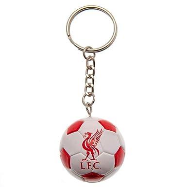Liverpool FC - Llavero con forma de balón (Talla Única) (Blanco ...