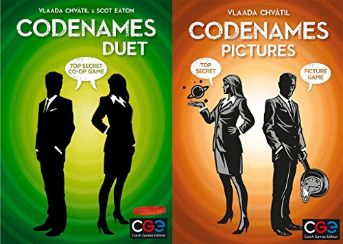 Duet Stacking (Codenames Duet AND Codenames Pictures with our mood bracelet)