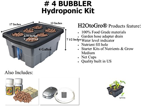DWC Hydroponic BUBBLER System #4, 6 site - Hydroponic System Kit Shopping Results