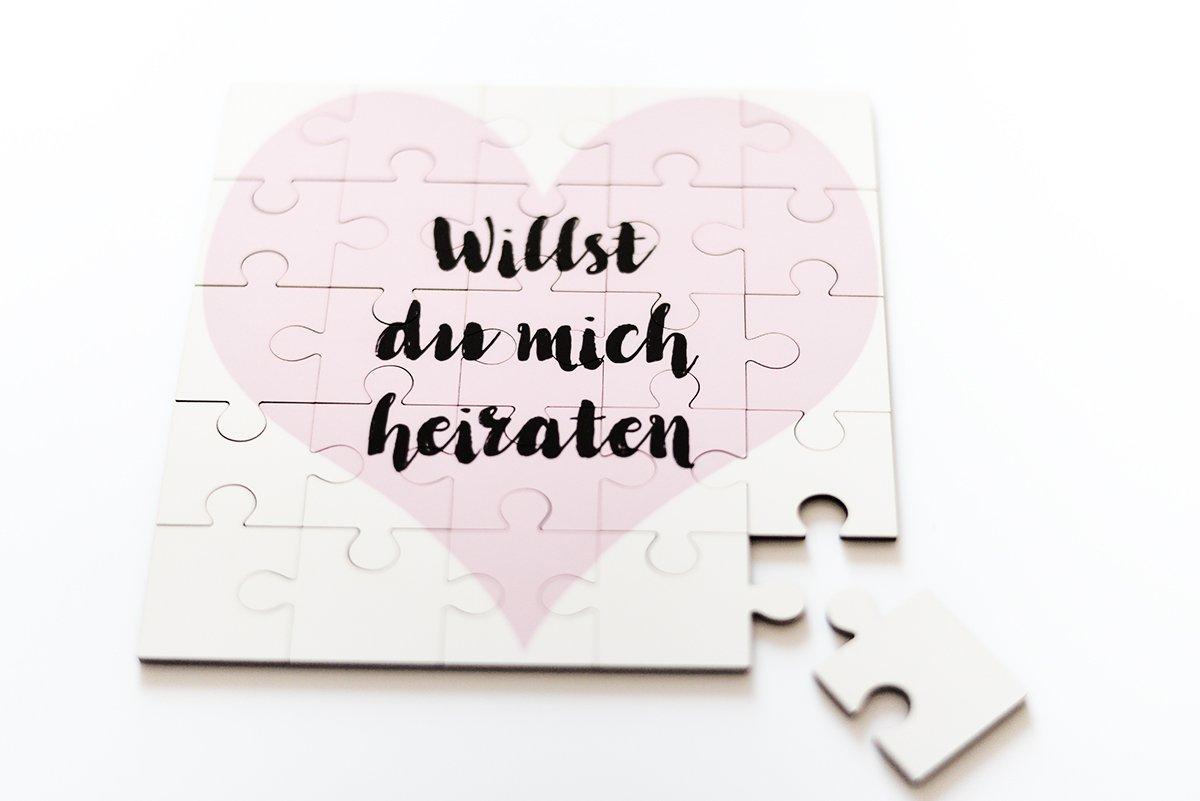 Marry & You Willst Du Mich Heiraten, Puzzle Geschenkidee, Hochzeit ...