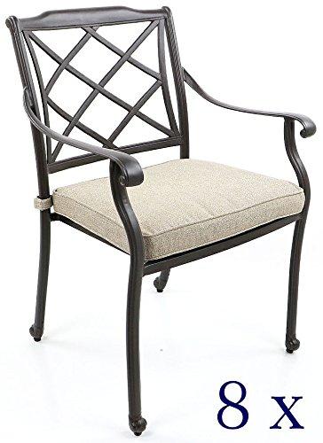 Amazon Sedie Da Giardino In Alluminio.Sedie Da Giardino In Alluminio Pressofuso Schienale