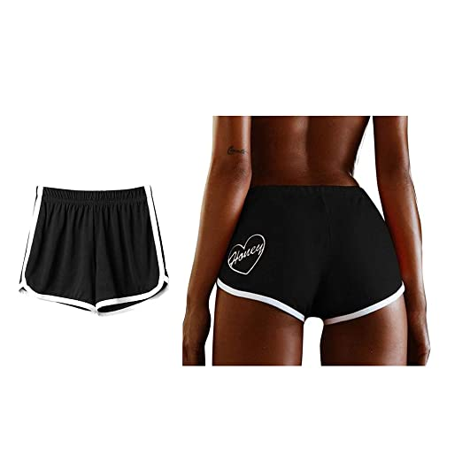 2cd666dfaabda BSGSH Women's Casual Dolphin Summer Shorts Honey Print Running Workout  Shorts Yoga Sport Fitness Short Pant