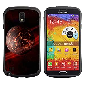 Be-Star Impreso Colorido Diseño Antichoque Caso Del iFace Primera Clase Tpu Carcasa Funda Case Cubierta Par SAMSUNG Galaxy Note 3 III / N9000 / N9005 ( Dieing Star Planet )