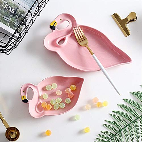 - Flatware Sets - Ceramic Pink Flamingo Mini Beauty Baby Party Dishes Bowl Plates Table Decoration - Brown Tabletop Steel Stainless Spoons Service Rose Luck 18/10 Little Gold Sets Handle Fl