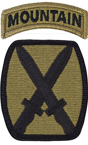 10th Mountain Division MULTICAM (TM) Patch with MOUNTAIN Tab