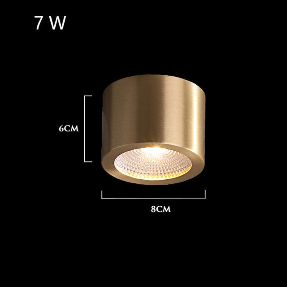WSYYWD Moderna lámpara de techo LED redonda de cobre interior ...