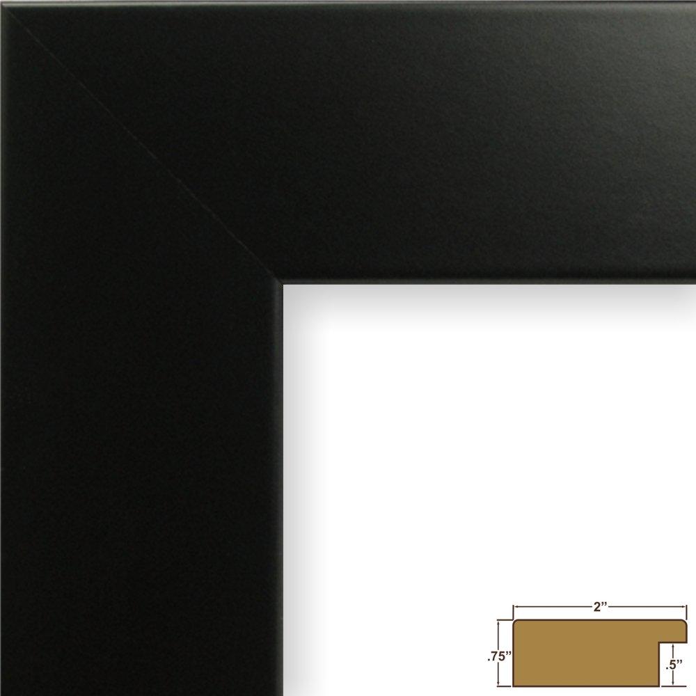 クレイグフレーム74273 24 by 36-inch画像フレーム、滑らかなラップ仕上げ、2インチ、ブラックサテン B002UOB4W2