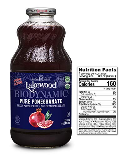 (Lakewood Organic Biodynamic Juice, Pure Pomegranate, 32 Ounce (Pack of 6))