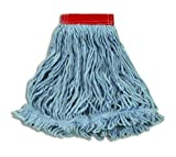 Rubbermaid Commercial Products Super Stitch Blend Mop, Large, 5-Inch Headband, Blue (FGD25306BL00)