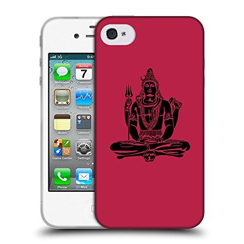 GoGoMobile Coque de Protection TPU Silicone Case pour // Q08100615 Hindou 1 Marron clair // Apple iPhone 4 4S 4G