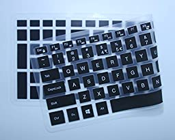 Keyboard Cover for 15.6 Inch Dell Inspiron 15 7559, Inspiron 15 3000 5000 series i3541 3542 3543 3551 3552 3558 5545 5547 5548 5555 5558 5559, Inspiron 17 5000 series 5748 5749 5755 5758 5759 (Black)