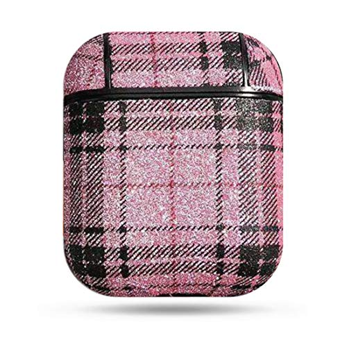 Pro Life Shiny Plaid Apple Airpod Carrying Cover Case.Case for Airpods - Pink