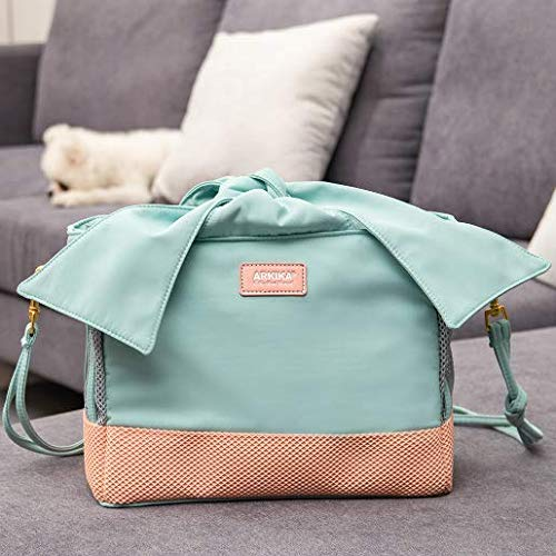 CBTJ Small Dog Cat Carrier Sling Hands Free Pet Puppy Outdoor Bowknot Travel Tote Bag Splash Resistant Fabric for Indoor Outdoor Car,Green by CBTJ
