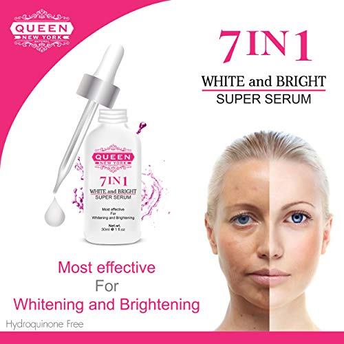 7in1 Whitening and Brightening Super Serum-with Tranexamic Acid, Alpha arbutin, Glutathione, Hyaluronic Acid Vitamin C-Maximum Strength-Dark Spots, Hyper-pigmentation, Melasma Sun Damage(1 Bottle)