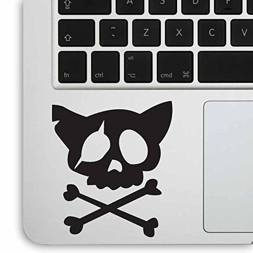 Qty Kitty - Aftermarket Graphics - 2x Qty Kitty Skull for laptop / car / guitar Decal Sticker (BLACK)