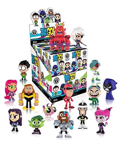 Funko Mystery Mini: Teen Titans Go! Mini Toy Action Figure - 2 Piece BUNDLE (Teen Titans Toy Beastboy)