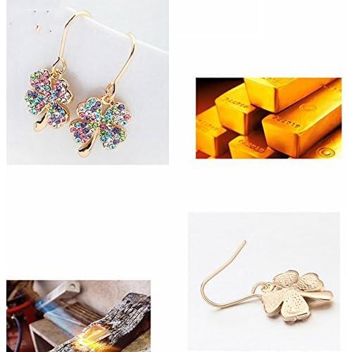 0530e0bf4533 Joyas Pendientes de Cristal Austriaco Historia de Amor Pendientes de Trébol  Dulce Pendientes de Diamantes Flash