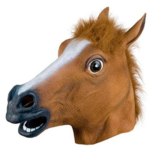 HP95(TM) Horse Head Mask Latex Costume Prop Gangnam Style For Halloween -