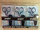 Lot Of 3 Gingher Designer Series Jennifer (3 Pack)