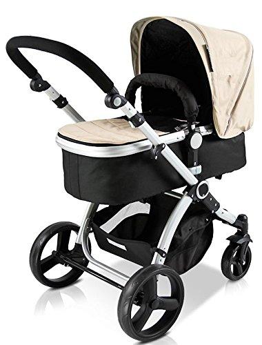 Star Ibaby Go Baby UP - Cochecito de bebe con silla, capazo y burbuja de lluvia, color arena: Amazon.es: Bebé