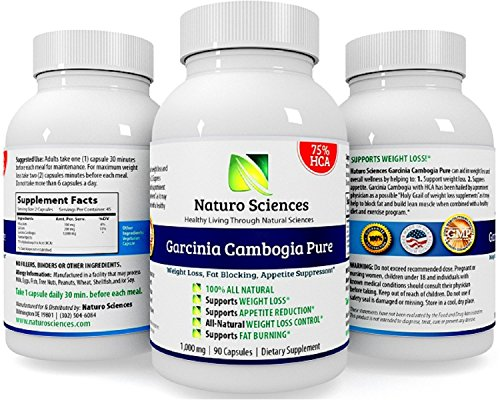 Naturo Sciences Garcinia Cambogia Extrait Pur - 75% HCA - Ultra Slim Weight Management - coupe-faim naturel et supplément de perte de poids - Perdre la graisse du ventre rapide - lire ci-dessous et apprendre à perdre du poids naturellement sans se sentir