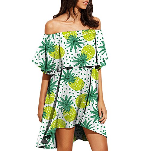 Tops Sale Dress Dresses Off On Evening Chanyuhui Lady Outfit Mini Sleeveless Green Shoulder Floral Tunic Party Women Summer qaRSwqWXE