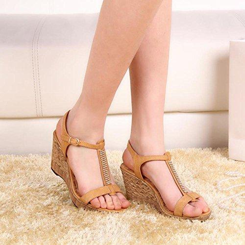 Sandalias de cuña de verano Sandalias de tacón alto a