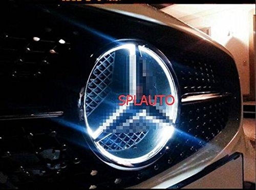 Splauto illuminated led light front emblem lamp car front for Mercedes benz illuminated star installation