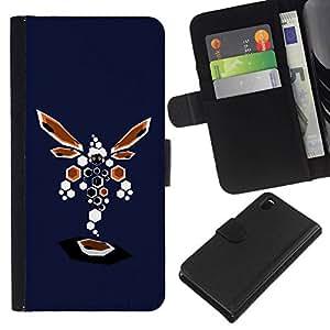 All Phone Most Case / Oferta Especial Cáscara Funda de cuero Monedero Cubierta de proteccion Caso / Wallet Case for Sony Xperia Z3 D6603 // Abstract Dragonfly